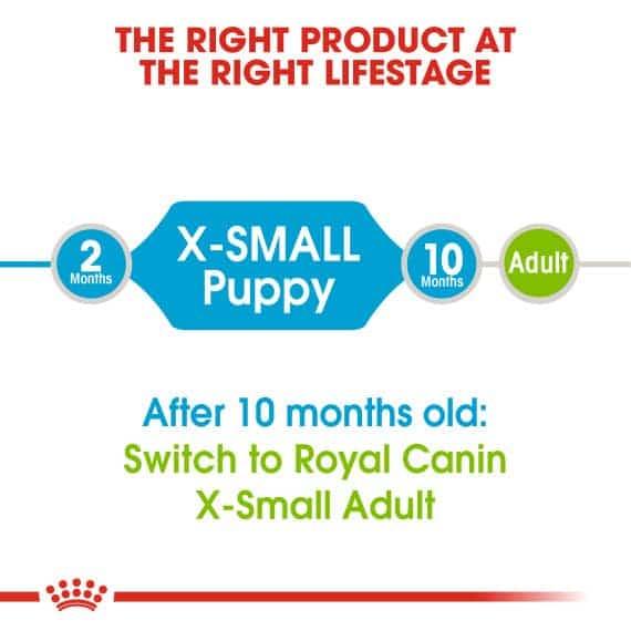 Thức Ăn Chó Con Cỡ Siêu Nhỏ - Royal Canin X-Small Puppy Dry 4